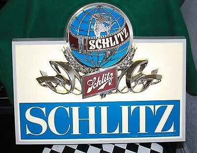 Vintage Schlitz Beer Wall Sign with Light (1980's)
