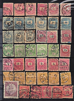 Hungary 42 Classic Stamps Some From The 1800's, Used(C424)