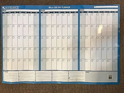 "At-A-Glance 90/120 Day Undated Horizontal Erasable Wall Planner 36"" 24 PM239B-28"