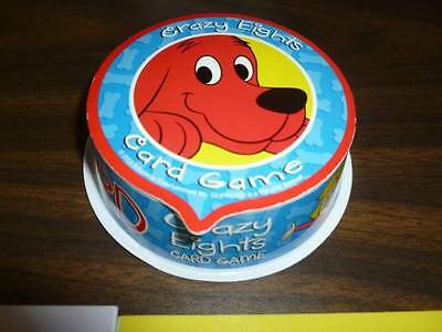 Clifford the Big Red Dog Book Character Crazy Eights Bone Card Toy Kids Game