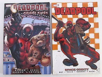 Deadpool Graphic Novel Space Oddity Suicide Kings Softcover Book Set
