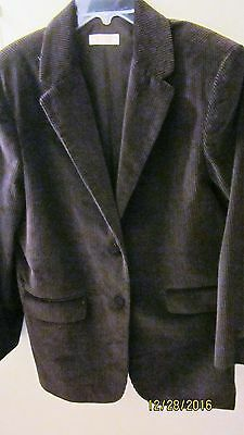 Made in USA ~Brooks Brothers  ~Corduroy Brown ~ 2-Button Blazer Jacket ~ Size 16