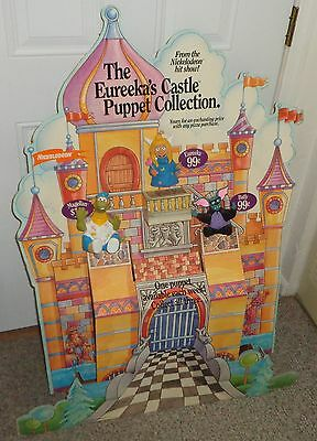 Nickelodeon Eureeka's Castle Hand Puppet Toy Set Pizza Hut Display MTV Networks