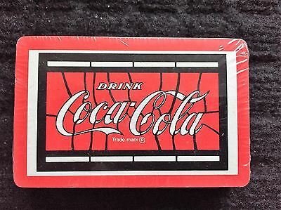 "Vintage NEW Sealed ""Drink COCA COLA"" Playing Cards Deck Plastic Coated Made USA"