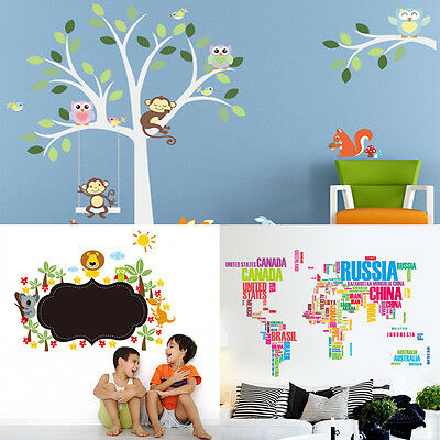 Removable DIY PVC Wall Sticker Mural Decal For Home Nursery Baby Kids Room Decor