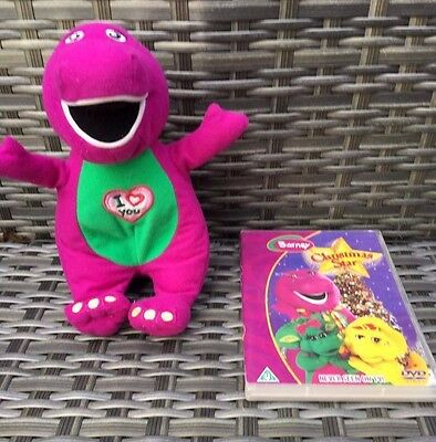 Barney Purple Dinosaur Singing I Love You Song Soft Toy And Christmas Star DVD