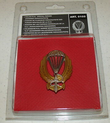 Oryon Italian R.S.I. Special Forces Swimmer Paras Badge Replica 0103 Brand New