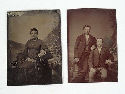 vintage TIN photograph photos -  Tintype 1800's pictures