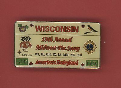 2005 Wisconsin Midwest Pin Swap Lions Club Pin - Bag46