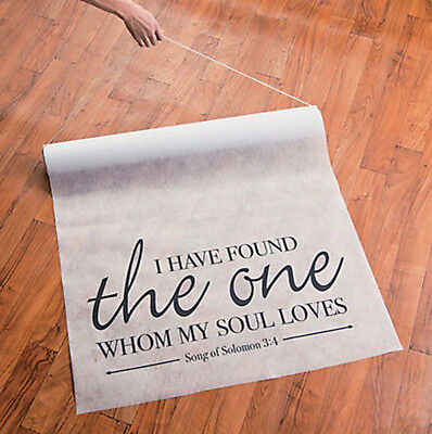 Song Of Solomon Wedding Aisle Runner 100 Foot x 3 Foot White Ceremony Event New