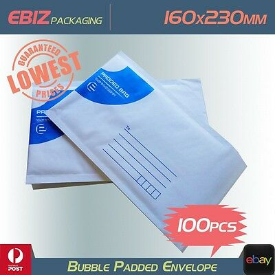 100x Mailing Bubble Envelope 160x230mm Extra Strength Padded Mailer Bag  BE1