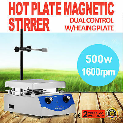 SH-3 Hot Plate Magnetic Stirrer Mixer Mixing 1600rpm Digital Display Laboratory