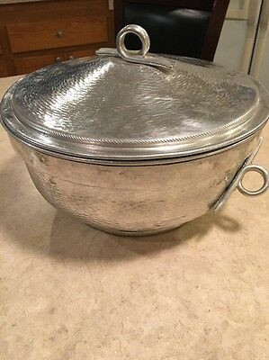 Vintage - Aluminum Insulated Ice Bowl With Lid Made In Italy- Bar Area Item