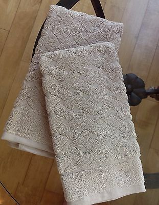 New Peacock Alley Uptown tan guest towels