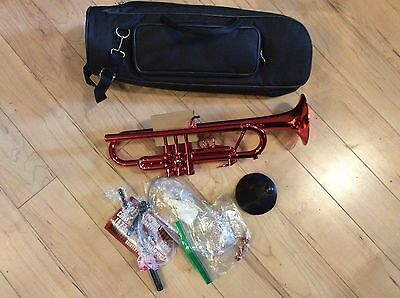 Allora ATR-1301M Aere Metallic Series Plastic Bb Trumpet   Red
