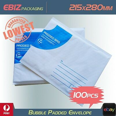 100x Mailing Bubble Envelope 215x280mm Extra Strength Padded Mailer Bag  BE3
