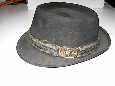 Vintage CHAMP Black Corded with Buckle Men's Hat  - Trilby/European Style