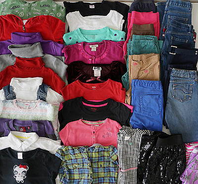 Girls Size 7 Fall Clothes Lot of 37 Items L2-17