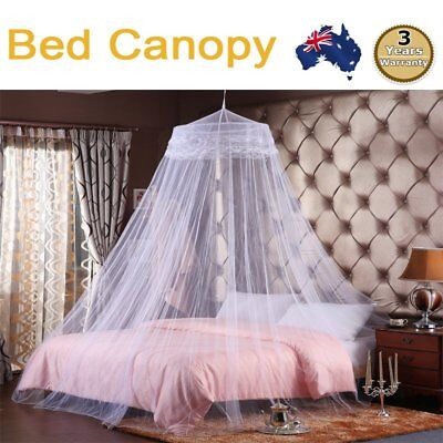Hot Gorgeous Bedroom White King Size Fly Insect Mosquito Net Bed Canopy