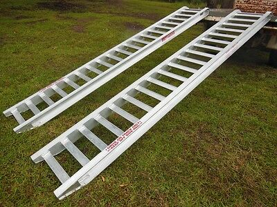 5 Tonne Capacity Machinery Loading Ramps 3.5 Metres x 450mm track width