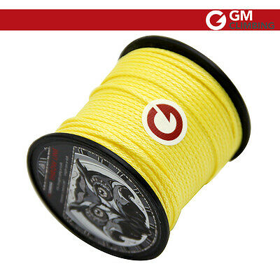 1.7mm 55M Roll 650lb Throw Line Yellow for Climbing Tree Working Arborist