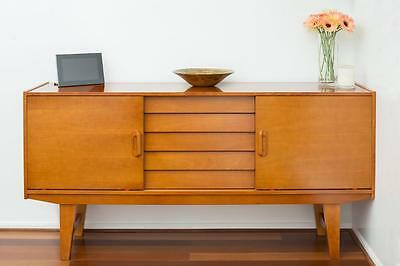 Sideboard Retro Danish mid-century inspired vintage Eames style Buffet ASSEMBLED