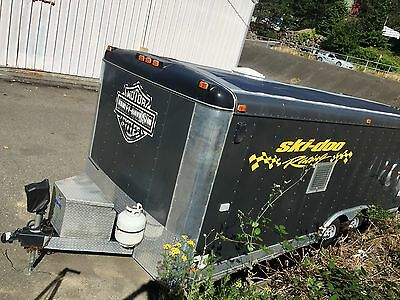 Enclosed Cargo Car Toy Trailer. Fully independed Solar Power Supply, 2KW Harley