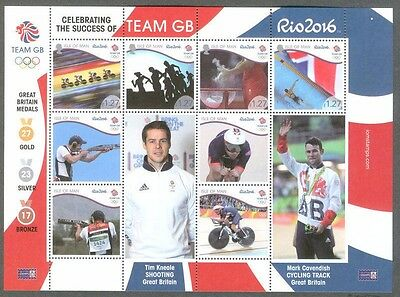 Isle of Man-Rio -2016 Olympics winners mnh -special sheet team GB