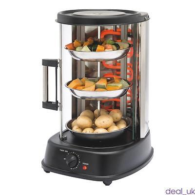 New Black Rotating Grill Vertical Rotisserie Kebab Machine 21L For Chicken BBQ