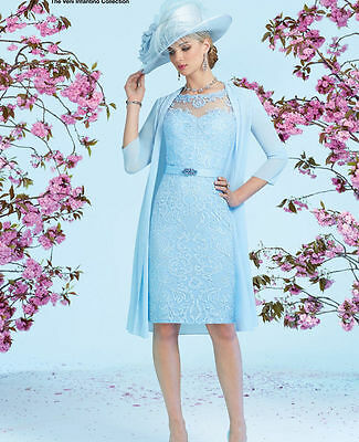 New Mother Of The Bride Outfits With Jacket Knee Length Formal Groom Dresses 6++