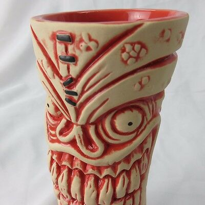 Frankie's Tiki Room Lava Letch Mug Red & White Color Big Toe Las Vegas NEW COLOR