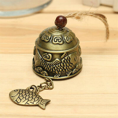 Metal Fengshui Bell Temple Garden Handmade Copper Fish Hanging Alloy Wind Chime