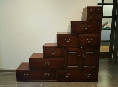 Hardwood Timber Staircase Cabinet. Cupboard  / Chest of draws