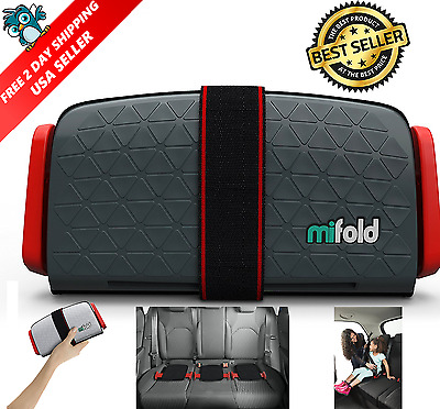 mifold Grab-n-Go Portable Lightweight Booster Seat For Your Car - Slate Grey