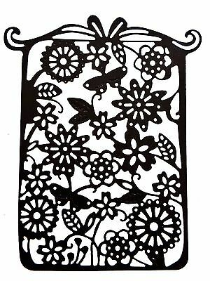 Flower & butterfly Tag Cutting Die