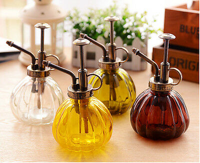 Retro  Home Garden Plant Plants Flower Watering Can Pot Glass Bottle Sprayer