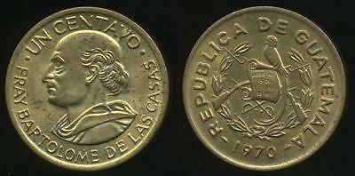 Guatemala, Republic, 1970 1 Centavo - Uncirculated