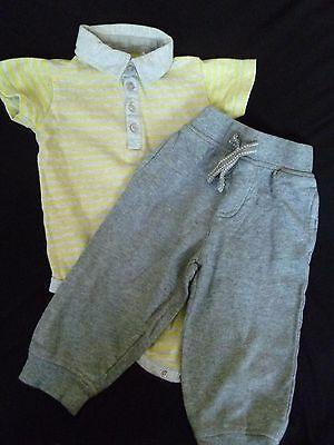 Boys Tu Jogging Bottoms and Short Sleeved Top Outfit Age 12 - 18 months