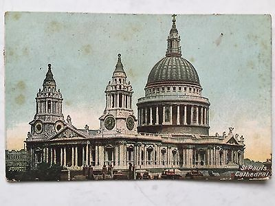 Postcard: St Pauls Cathedral London Stamp dated 1911? Posted To Symons Cl Hull