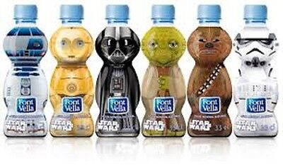 Exclusive set  STAR WARS Botellas 33cl. Water Bottle Font Vella. x6