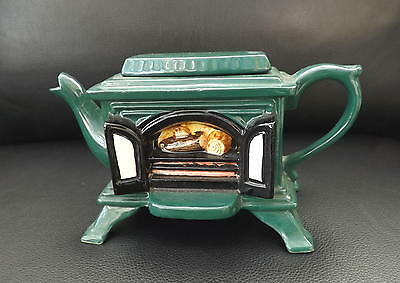 COLLECTABLE SWINESIDE TEAPOT WITH OPEN FIRE DESIGN c1994