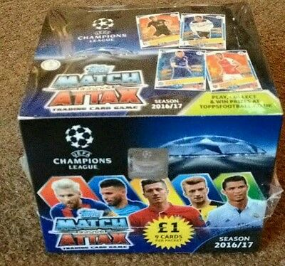 Full Sealed Box Of 50 Packs Of Match Attax Champions League  16/17