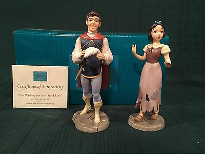 """WDCC Prince and Snow White """"I'm Wishing for the One I Love"""" New in Box"""