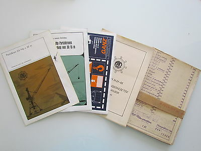 8 X Marine Navy Ship Crane Plan - Prospekt - 8 Pcs - Very Rare