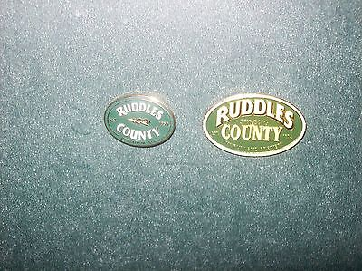 2 Ruddles County  Brewery  Lapel Badges