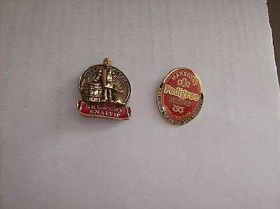 2 Brewery  Lapel Badges  Old Mill & Marstons Pedigree
