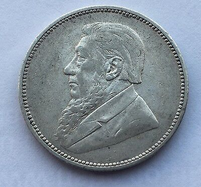 1896 2 Shilling Paul Kruger pre Boer War ZAR coin South Africa