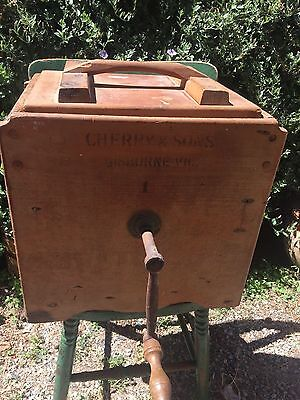 Antique Vintage Cherry And Sons Butter Churn