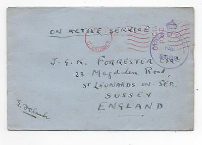 WWII British Army - Official Paid, censor