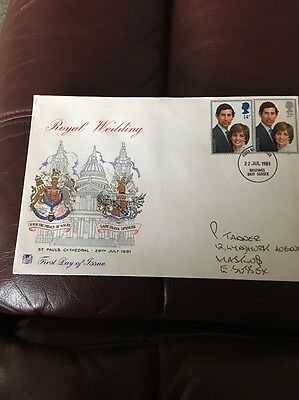 1981 royal wedding first day covers